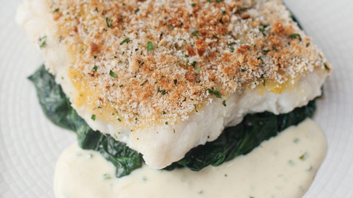 Neven Maguire's Baked Fish Fillets with Horseradish Crust and Lemon Cream Sauce