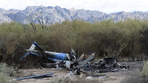 Ten people were killed when the two helicopters collided in the Argentine province of La Rioja