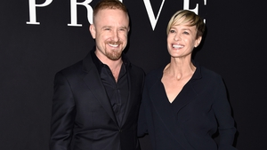 Ben Foster and fiancée Robin Wright