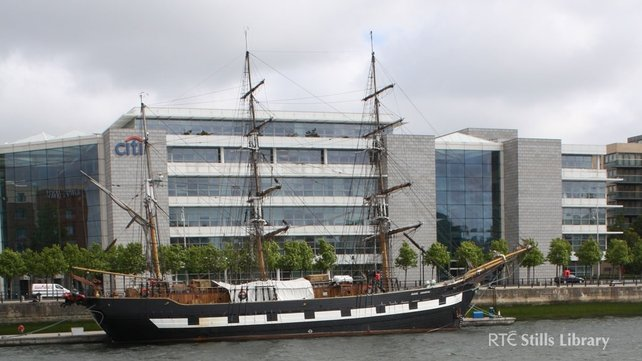 Jeanie Johnston' on North Wall Quay, Dublin (2009)
