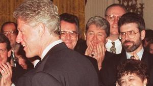 Sinn Féin leader Gerry Adams at the White House on St Patrick's Day 1995.