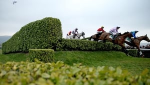 A view of the action in the Glenfarclas Chase