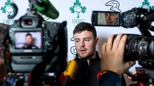 Man of the moment Robbie Henshaw speaks to the media on Tuesday