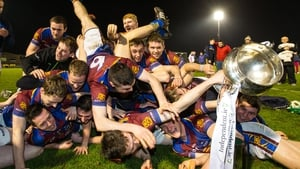 UL players celebrate with the Fitzgibbon Cup after the final on Wednesday