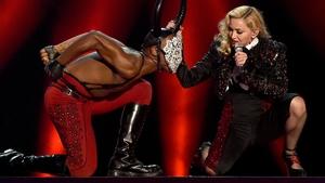 Madonna perfoms at the Brits