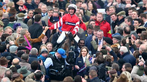 Nico de Boinville celebrates a hugely impressive victory
