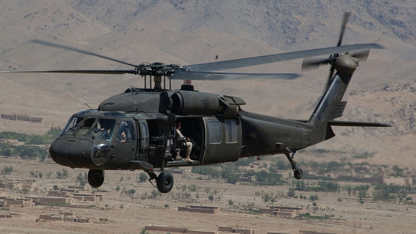A UH-60 Black Hawk helicopter