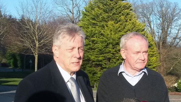 Peter Robinson and Martin McGuinness said some progress had been made