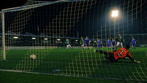 Billy Dennehy score from the penalty spot for Cork City (photographs courtesy of Kevin Mulcahy)