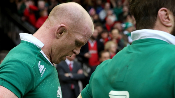 Disappointment etched on the face of Paul O'Connell after the game