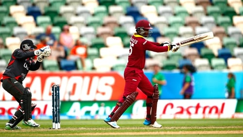 Johnson Charles of the West Indies bats during the 2015 ICC Cricket World Cup match between the West Indies and United Arab Emirates