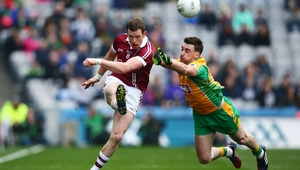 The football final pitted Ulster champions Slaughtneil against Corofin of Galway