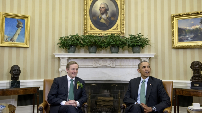 President Obama welcomes Irish to the White House
