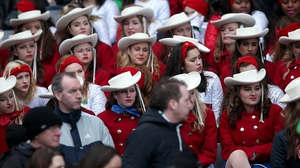 An American marching band was present at Croke Park