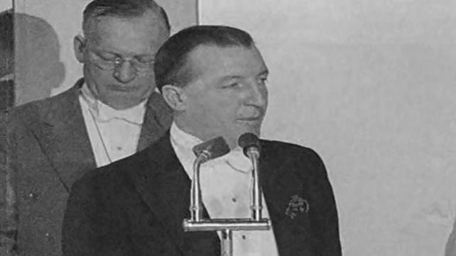 Charles Haughey at Irish Club Banquet in London, St. Patrick's Day (1965)