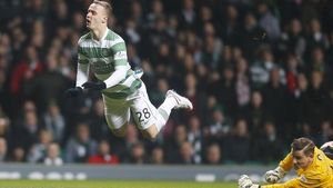 Leigh Griffiths goes flying