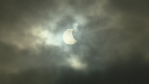 Cloud cover obscured the view of the eclipse over much of the country