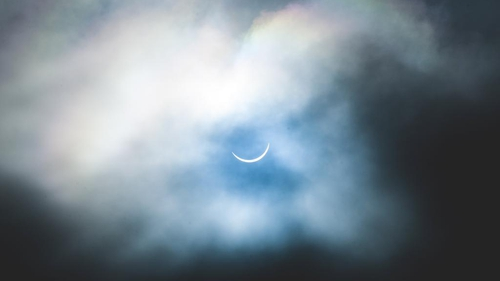 The view of the eclipse from Co Mayo (Pic: @thinlizzynut)