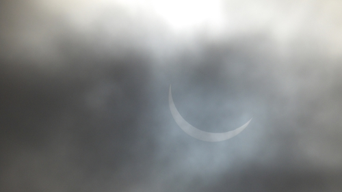 The eclipse as seen from Tramone (Pic: Tina Schley)