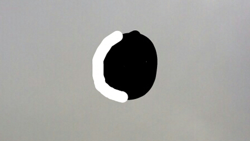 Stephen Molloy sent in this picture of 'the eclipse' over Inchicore, Dublin