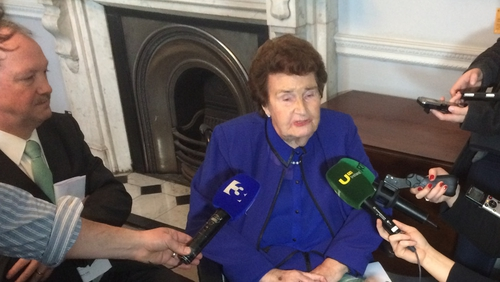 Maureen Haughey died at the Mater Hospital in Dublin following a short illness