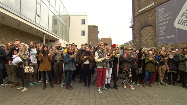 NCAD students had protested at the apparent financial mismanagement of the college