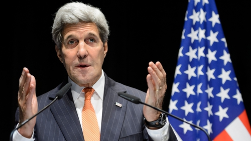 US Secretary of State John Kerry was in negotiations with Russian officials