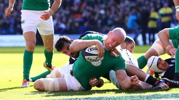 The Ireland captain scored a vital try against Scotland