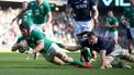 Seán O'Brien with Ireland's second t
