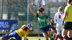 Anna O'Flanagan was among the scorers for the Irish