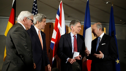 The foreign ministers of Germany, the US, UK, and France met in London to discuss the situation with Iran
