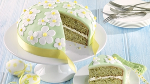 Easter White Chocolate and Pistachio Cake