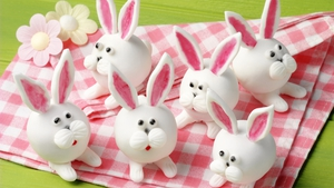 Easter Rabbit Red Velvet Truffles