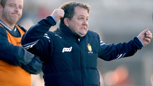 Davy Fitz shows his feelings on the sidelines.