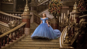 The beautiful Lily James as Cinderella