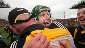 Celebrating with Brian Cody after Kilkenny's All-Ireland win in 2009