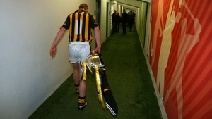 On his way back to the Kilkenny dressing room with the Division 1 trophy in 2009