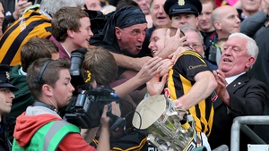 Being congratulated by supporters after receiving the Liam MacCarthy cup in 2012