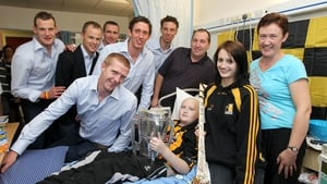 With Jackie Tyrrell, Tommy Walsh, Eddie Brennan, Michael Fennelly and Brian Hogan, visiting Colin Holden from Ballyhale, Co Kilkenny and his parents Joan and Chris and sister Sarah in 2011