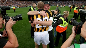 Celebrating with Kilkenny's manager Brian Cody after the 2014 All-Ireland final
