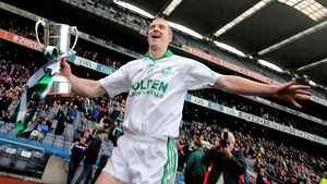 Henry celebrates with the cup after winning his third All-Ireland Club SHC title on 17 March 2015