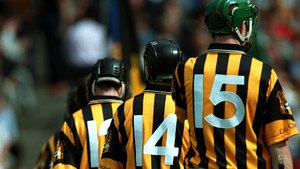 Henry Shefflin and DJ Carey parade before the All-Ireland SHC semi-final against Galway in 2001
