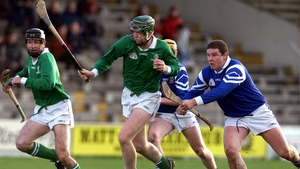 On the run for Leinster during the Railway Cup hurling final vs Munster in 2000