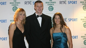 Shefflin, winner of the RTÉ Sports Personality of the Year in 2006, with fellow nominees Derval O'Rourke and Katie Taylor