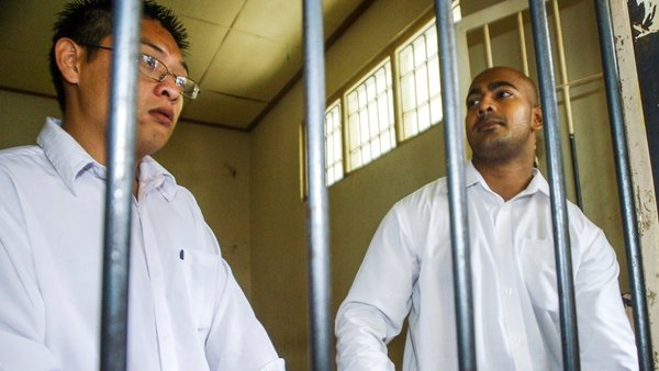 Andrew Chan (L) and Myuran Sukumaran have been told their execution is imminent
