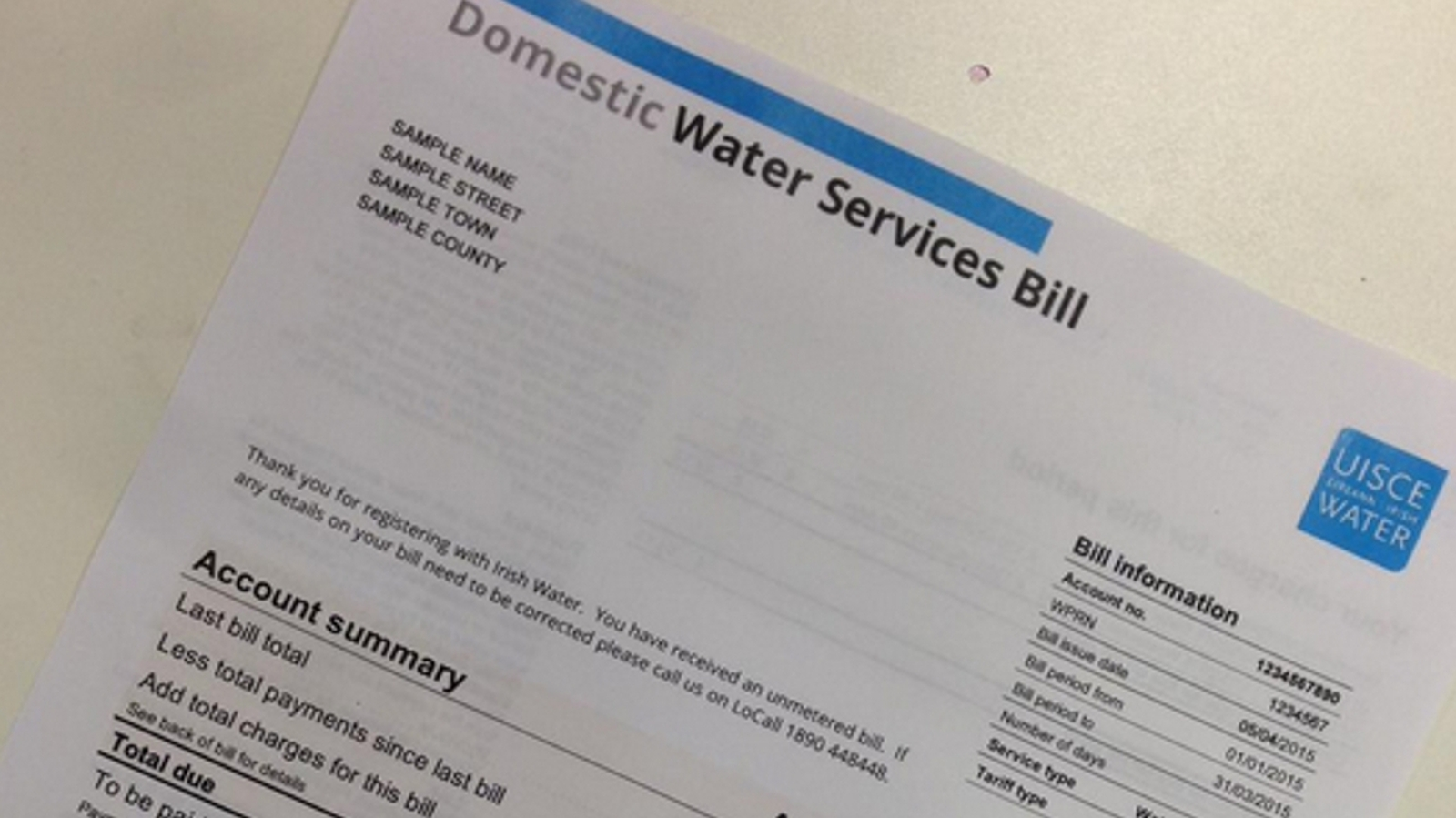 Irish Water says over 20% drop in bill payment
