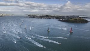 The start of a leg of the Volvo Ocean Race from Alicante in Spain