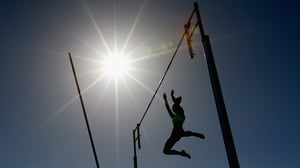 Melissa Gergel of the USA competes in the Women's Pole Vault during the IAAF World Challenge at Lakeside Stadium in Melbourne