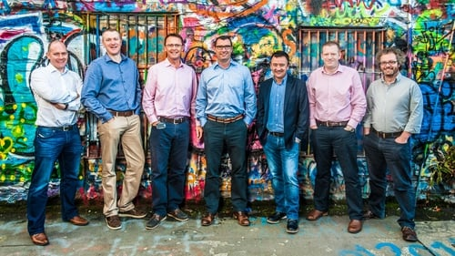 Realex Payments was founded by Colm Lyon, third from right, in 2000