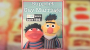 Customer wanted a cake with Bert and Ernie and the slogan 'Support Gay Marriage'